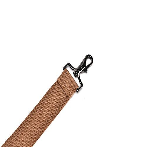 CoolBell umwandelbar Rucksack Messenger Bag verstellbarer Schultergurt mit Metallhaken für 15-17 Zoll Laptoptasche/Kameratasche/Reisetasche/Umhängetasche (ca.146 cm, Canvas Dunkel Coffee) Canvas Grün