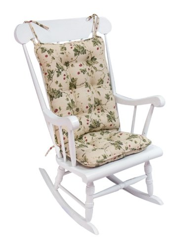 Merveilleux Greendale Home Fashions Standard Rocking Chair Cushion, Brooksberry, Beige