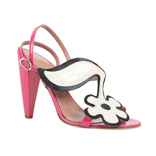 (Red Valentino Women's Valentino Patent Leather Sandals Heels Shoes /37 7 Pink)