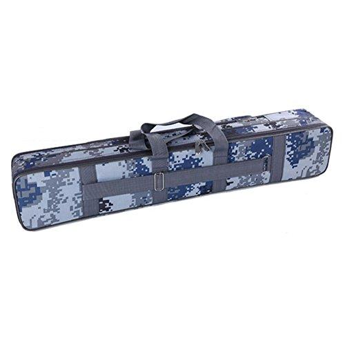 Zwei Reihen 80 cm Angel Fälle Tubes Angelausrüstung Angelruten Taschen Navy blau