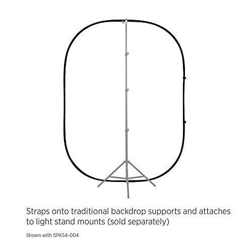 Fovitec StudioPRO - 5' x 6.5' Black/White Double-Sided Pop-Out Muslin Backdrop - [Collapsible Background][Matte Finish][Carrying Case Included]