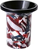 Mudjug Roadie American Flag Portable Spittoon Traveler - Virtually Spillproof - Stars and Stripes Mudjug