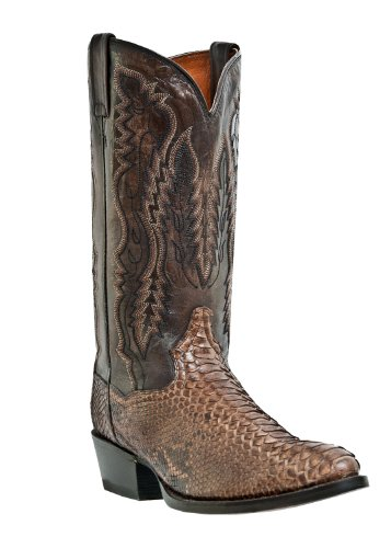 Dan Post Python Mens Boots (Dan Post Men's Omaha Python Cowboy Boot Medium Toe Brown 11.5 D(M))