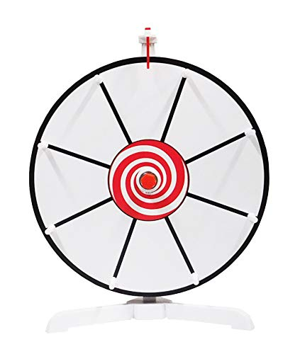 Find Discount Spinning Prize Wheel 12 White Face Dry Erase Spin Wheel with Classic Peg Design