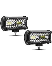 "Safego 7"" 120W LED werkschijnwerper extra schijnwerper 9600LM IP68 waterdicht LED auto koplamp werklicht offroad SUV ATV 12V 24V Car LED Work Light spotlight, 1 jaar garantie, 2 stuks"