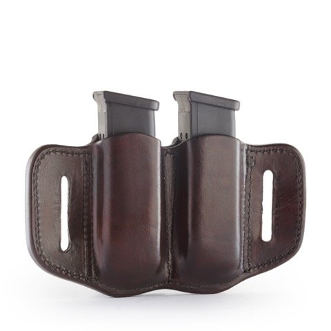 1791 GUNLEATHER 2.2 Mag Holster - Double Mag Pouch for Double Stack Mags, OWB Magazine Pouch for Belts - Signature Brown