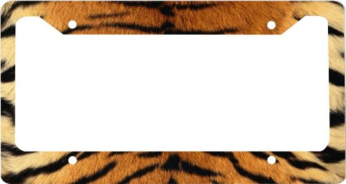Tiger License Plate Frames | Kritters in the Mailbox