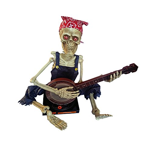 Animated Banjo Skeleton (Gloom for Your Room Animated Banjo Playing Skeleton Halloween Decoration Prop - 3 Feet)