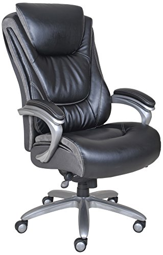 Serta Big and Tall Smart Layers Blissfully Executive Office Chair, Black by Serta