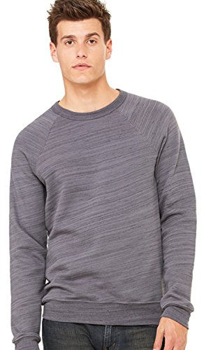 Bella-Canvas C3901 Unisex Sponge Fleece Crew Neck Sweatshirt - Dark Grey Marble Fleece, Large