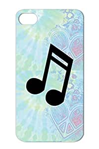Musical Note Music Notes Music Rock Metal Anti-scuff Black For Iphone 4s Case