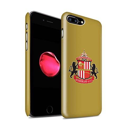 Officiel Sunderland AFC Coque / Clipser Matte Etui pour Apple iPhone 8 Plus / Or Design / SAFC Crête Club Football Collection