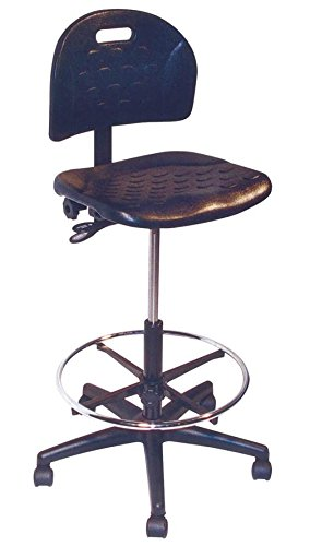 Allseating Adjustable Lab Chair w Metal Foot Ring, Castered Base