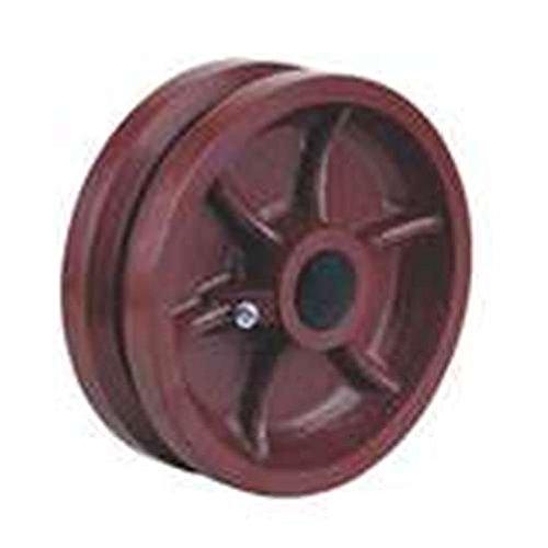 8'' x 3'' Ductile Iron V-Groove Wheel, 3-1/4'' Hub, 5000 lbs Capacity