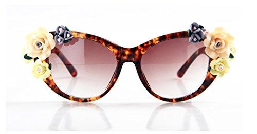de Flores 6 Gafas Gafas Barroco de sol Rosas X521 gafas Mujeres Color 3 sol Moda QQB de sol Gafas EqxORW