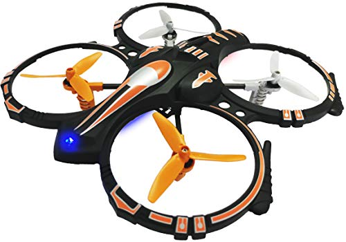 EWONDERWORLD Easy to Fly Stunt Drone Quadcopter for Kids & Beginners with 3 Blade Propellers and Practice Landing Pad - RC Toy Plane