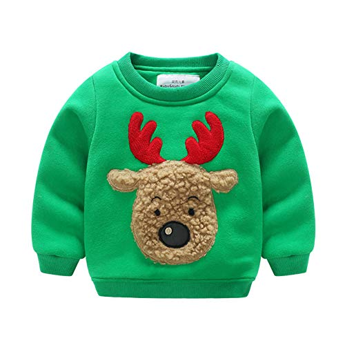 - Fairy Baby Toddler Baby Boy Girl Christmas Fleece Sweatshirt Kid Reindeer Outfit Clothes Size 5T (Green)