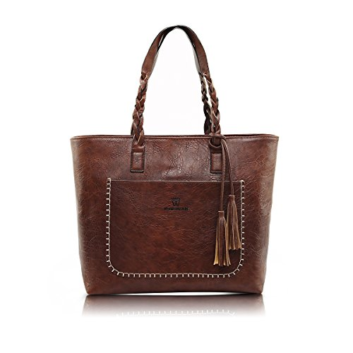 E Ekphero Women Shoulder Bags, Hobo Bags Tote PU Leather Handbags Fashion Large Capacity Bags by E Ekphero