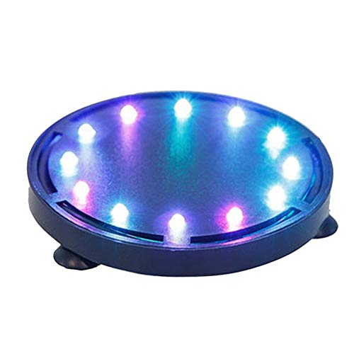 Bestgle Aquarium Air Curtain Decoration Air Bubble Disk Lights Underwater RGB Lamp Submersible Lighting Multi-Color Changing Light for Fish Tanks (Air Pump Tube Not Included)