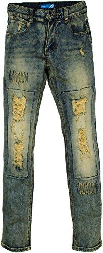 Angel Cola Distressed Ripped Washed Cotton Stretch Denim Jeans Vintage - Balmain Men