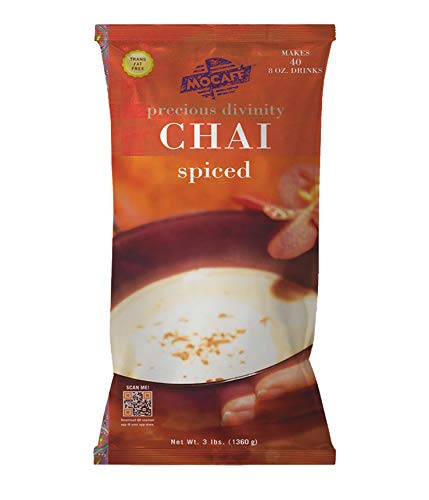 MOCAFE Precious Divinity Spiced Chai Tea Mix, 3-Pound Bag Instant Frappe Mix, Coffee House Style Blended Drink Used in Coffee Shops