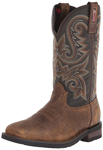 Rocky Men's 12 Inch Western Trail Bend Boot, Burnt Umber/Dark Brown, 11 M US