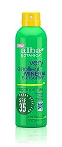 Alba Botanica Very Emollient Mineral Spray Sunscreen SPF 35, 6 Ounce