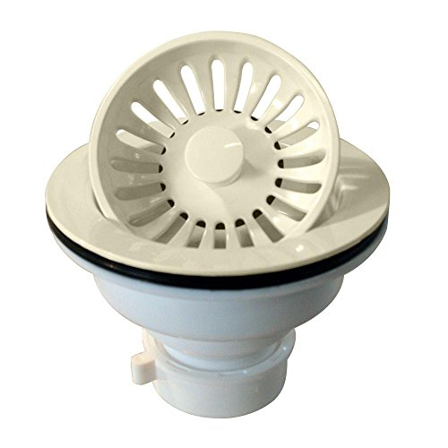 - Westbrass Push-Pull Style Large Kitchen Sink Basket Strainer, Biscuit, D2143P-65