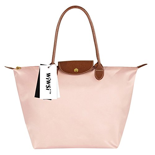 Bag Handle M Pink Messenger Medium Fashion Durable S Casual Nylon L Women Wiwsi Hand Light Light Tote Pink w1PzF8q