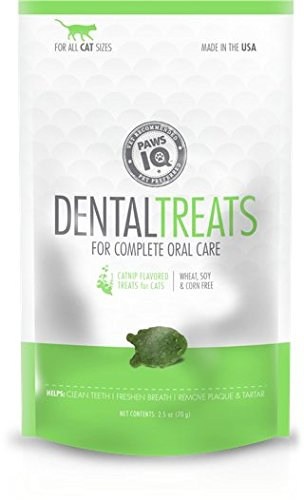 Cat Paw Care (Paws IQ Cat Dental Treats - Cat-Nip Flavor, 5.5oz)