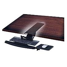 Mount-It! MI-7133 Underdesk Keyboard Tray Drawer, Ergonomic Gel Wrist Pad, Mouse Pad Included, Black