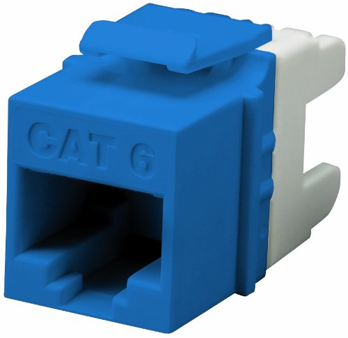 Allen Tel AT66EZ-20 E-Z Outlet Jack with 1 Port, TIA/EIA 568-B.2-1 / T568A / 568B Wiring, 110 Termination Single Punch Tool, Blue (Single 568)