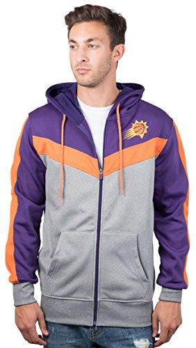 Cut Hoody - UNK NBA Men's Phoenix Suns Full Zip Hoodie Sweatshirt Jacket Contrast Back Cut, Small, Purple