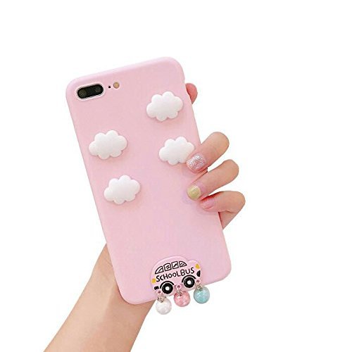For Samsung Glaxy S8 Plus Case,AiKeDuo 3D Cute Cloud Case Pink Lovely Car Pendant Soft TPU Back Cover Cases For Samsung S8 Plus
