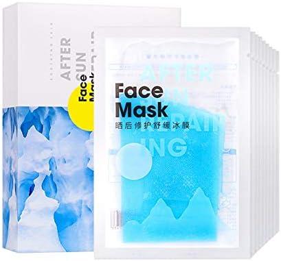 Allbestaye 10 piezas After sun después de la máscara solar Mascarilla facial reparadora de quemaduras solares Cuidado de la piel hidratante natural: Amazon.es: Belleza