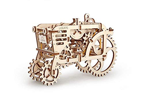 (Ugears Tractor, 3D Wooden Puzzles, Adult Craft, DIY Brain Teaser Games, Engineering Toys, board Games, Self-Assembly Mechanical)