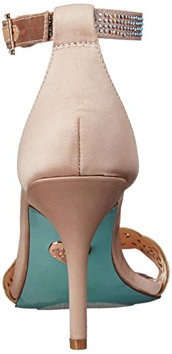 Blue Satin Women Champagne by Johnson Betsey Sandal SB Dress ETTA rqr1zwU