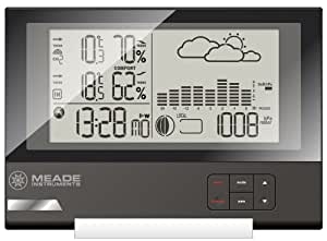 Meade Instruments TE636W Slim Line Personal Weather Station with Atomic Clock