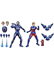 Marvel Hasbro Legends Series 6-inch Scale Action Figure Toy Captain and Rescue Armor 2-Pack, Infinity Saga Character, Premium Design, 2 Figures and 12 Accessories