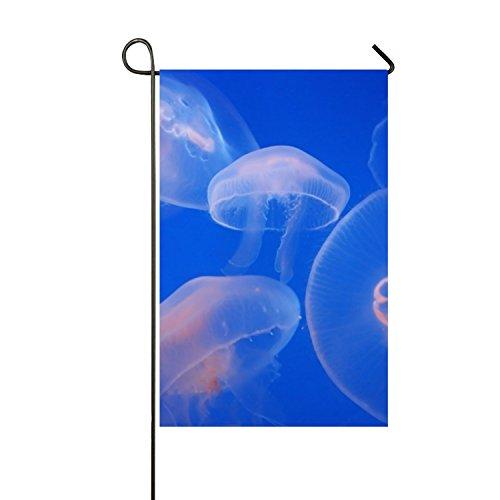 Lucy Curme Inspirational Garden Flag Aquarium Jellyfish Doub