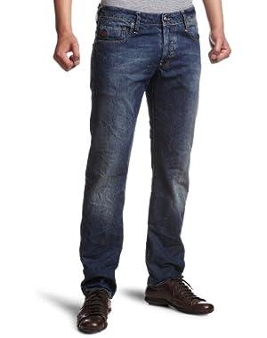 Men's Heller Low Rise Straight Leg Jean in Blue