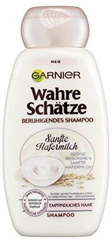 Garnier Wahre Schätze Shampoo / cremige Haarpflege mit sanfter Hafermilch für besonders geschmeidiges Haar / 6er Pack (6x 250ml)