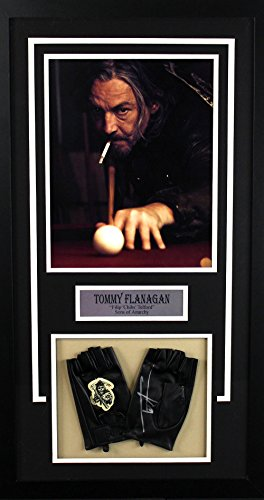 Tommy Flanagan Autographed/Signed Sons Of Anarchy Fully Licensed Framed Fingerless Black Crew Gloves