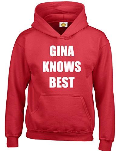 Femmes Pour Knows Hommes Comedie Gina Designs A Capuche Rouge Unisexe Adolescents Et Crown Inspiree Best De Television Emission Sweats ZwOq6EpH