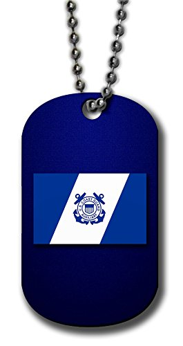 - ExpressItBest Aluminum Dog Tag Necklace and Key Ring - US Coast Guard, Auxiliary Flag