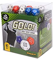 GOLO Golf Dice Game   For Golfers, Families, and Kids   Portable Fun Game for Home, Travel, Camping, Vacation, Beach   Award