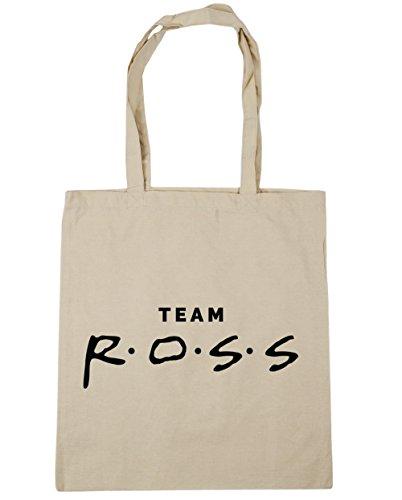 HippoWarehouse equipo Ross Tote Compras Bolsa de playa 42cm x38cm, 10litros Natural