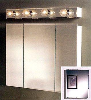 Jensen Medicine Cabinet Horizon Triple Door 30W x 28.25H in. Recessed Medicine Cabinet 255030 - Horizon Tri View Medicine Cabinet