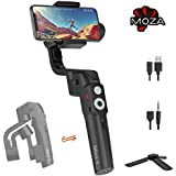 MOZA Mini-S Essential Foldable Phone Gimbal, Timelapse Object Tracking Zoom Vertigo Inception, 3-Axis Video Stabilizer for Smartphone Like iPhone Xs/Max/Xr/X/8/7/6 Plus Samsung Note 8/S8 Huawei