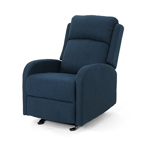 Christopher Knight Home 304802 Avaa Recliner, Navy Blue + Black